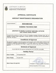 approval certificate aircraft maintenance ... - Sabena technics