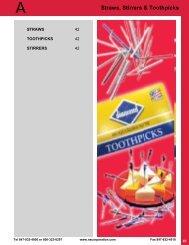 Straws, Stirrers & Toothpicks