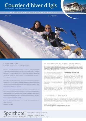 Courrier d'hiver d'Igls - Sporthotel Igls