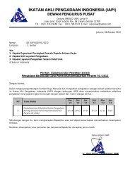 ikatan ahli pengadaan indonesia (iapi) dewan pengurus pusat - LKPP