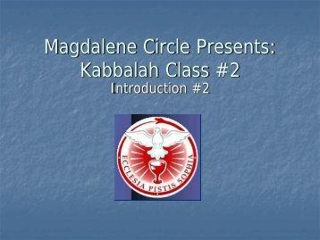 Kabbalah Class #2 - Magdalene Circle