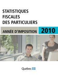 Statistiques fiscales des particuliers - Année d'imposition ... - Finances