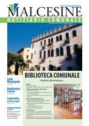 Notiziario Comunale N. 32 del Luglio 2009 - Comune di Malcesine