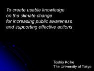 To create usable knowledge on the climate change for increasing ...