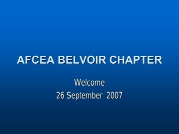 26 September 2007 - AFCEA Belvoir