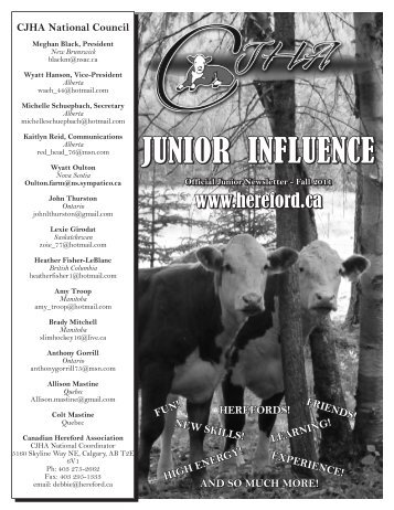 Fall 2011.pdf - Canadian Hereford Association
