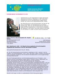 Roadmap Berlin Offener Brief an Merkel - Gunda-Werner-Institut