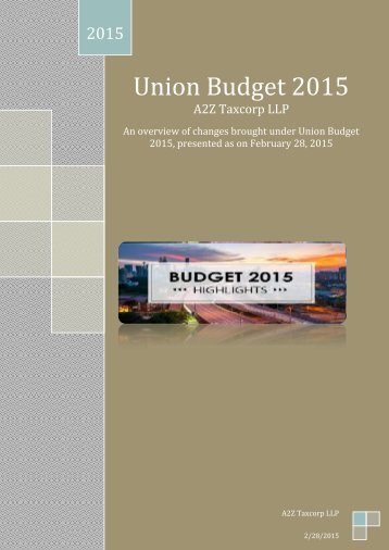 Union-Budget-2015-Changes-in-Indirect-Taxes-Service-Tax-Excise-and-Customs