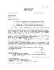 (Railway Board) No. 2001/Tele/TN/1/Pt. New Delhi, dt.20.2.2004 ...