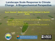 Landscape Scale Response to Climate Change - Florida Center for ...