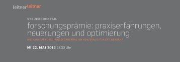 Einladung + Anmeldung - Wien - LeitnerLeitner