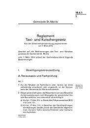 18.4.1 Reglement Taxi-und Kutschergesetz.pdf - Gemeinde St. Moritz