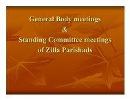 General Body meetings & Standing Committee meetings of Zilla ...