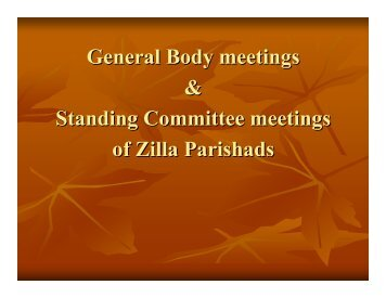 General Body meetings & Standing Committee meetings of Zilla ...