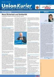 Februar 2010 - CDU-Kreisverband Bonn