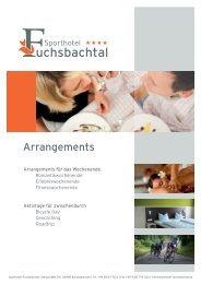 Arrangements - Sporthotel Fuchsbachtal