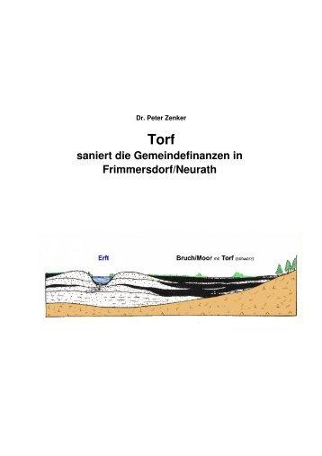 Torfgewinnung vor der Braunkohle, Langfassung - Dr. Peter Zenker