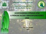 PBOL v HÚL a lesníckej praxi
