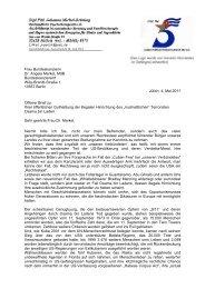 Frau Bundeskanzlerin Dr. Angela Merkel, MdB Bundeskanzleramt ...