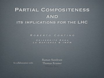 Partial Compositeness and - Infn