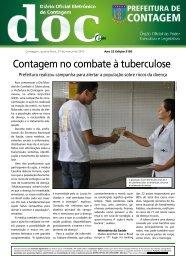 Contagem no combate à tuberculose - Prefeitura de Contagem