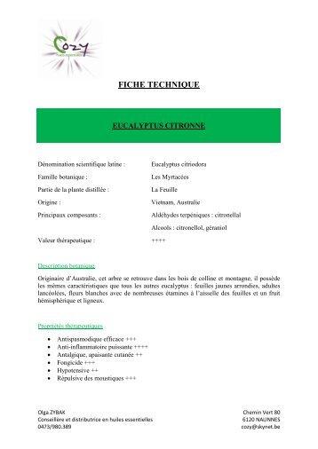 fiche technique - COZY Belgique