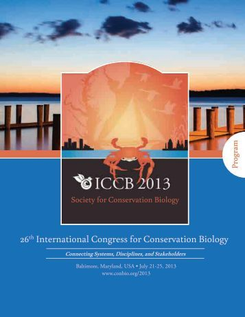 ICCB 2013 Program - Society for Conservation Biology