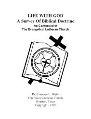 Life With God - Our Savior Lutheran Church