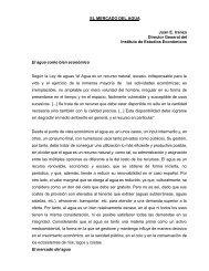 EL MERCADO DEL AGUA Juan E. Iranzo Director General ... - BVSDE