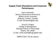 Supply Chain Disruptions and Corporate Performance - Simpoi