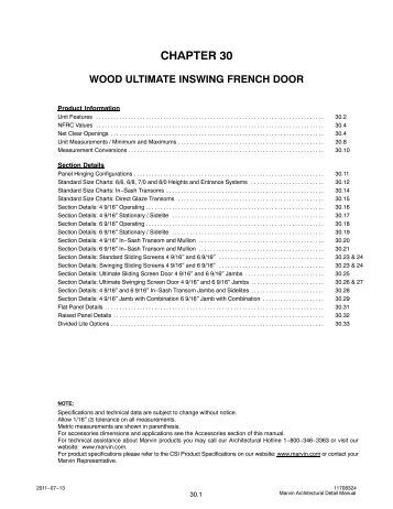 Wood Ultimate Inswing French Door - Marvin Windows and Doors