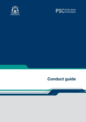 Conduct guide - Public Sector Commission - The Western Australian ...