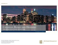 CANADIAN BANKS AND HOUSING - Swiss Canadian Chamber of ...