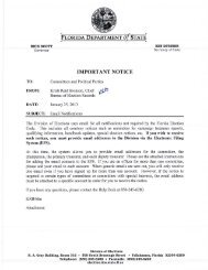 Committees and Parties - Florida Division of Elections