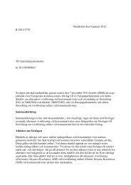 Kommissionens förslag till direktiv om alternativ tvistlösning vid ...