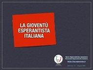 la gioventù esperantista italiana - Itala Esperantista Junularo