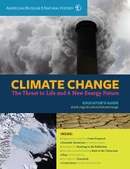 AMNH Climate Change Guide - American Museum of Natural History