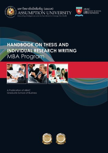 MBA Thesis Handbook - Assumption University of Thailand