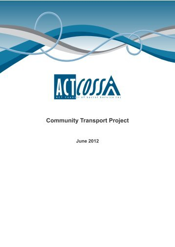 Community Transport Project - ACT Council of Social Service