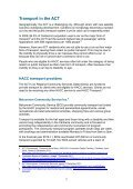 Community Transport Project - ACT Council of Social Service - Page 7