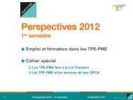 Perspectives 2012 - 1er semestre - Agefos PME