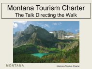 Montana Tourism Charter - Montana Office of Tourism