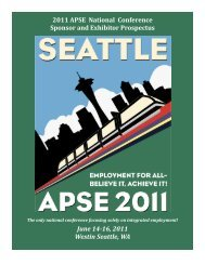 2011 APSE National Conference Sponsor and Exhibitor Prospectus ...