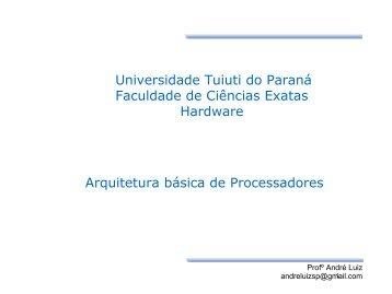 Processadores - Gerds - Universidade Tuiuti do Paraná