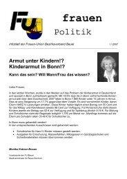Infoblatt I-2007 - CDU-Kreisverband Bonn