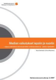 Median vaikutukset lapsiin ja nuoriin - katsaus ... - Mediakasvatus.fi