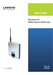 Wireless-G ADSL Home Gateway