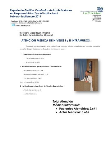 resumen general - Centro Médico Docente La Trinidad
