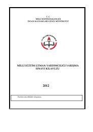milli eğitim uzman yardımcılığı yarışma sınavı ... - Türk Eğitim-Sen