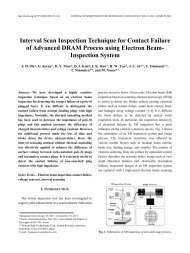 Interval Scan Inspection Technique for Contact Failure of ... - JSTS